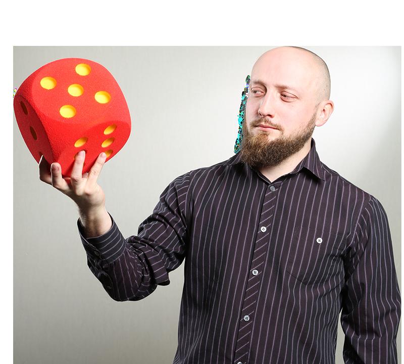 Michał Pająk z kostką