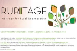 RURITAGE zaprasza do przyłączenia się do projektu w charakterze modeli wzorcowych.