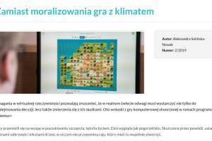 """O New Shores w magazynie """"Europa dla Aktywnych"""""""